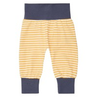 Pantaloni bumbac organic Sjors Yellow Stripes