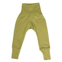 Pantaloni lungi lână şi mătase, verzi