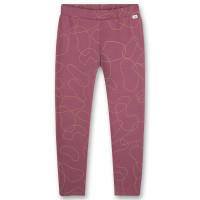 Pantaloni pentru fete Dark Orchid, cu imprimeu