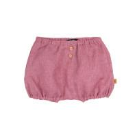 Pantaloni scurţi din in Cassis