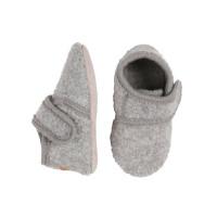Papuci casă copii, lână Light Grey