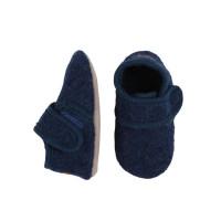 Papuci casă copii, lână Marine