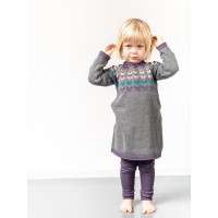 Rochie tricotată fete Marva Dark Grey