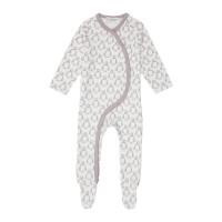 Salopetă pijama bumbac organic Valo Penguin Taupe