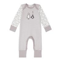Salopetă pijama Wayan Taupe Stripes