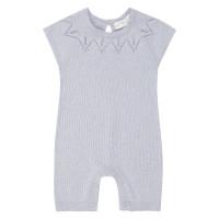 Salopetă scurtă tricotată Leha Ivory