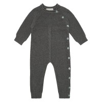 Salopetă tricotată bebe Yaci Dark Grey