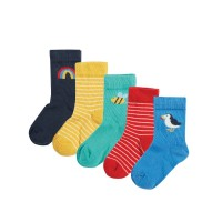 Set 5 perechi şosete copii Rainbow
