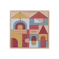 Set cuburi de construcţie din lemn