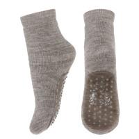 Şosete lână antiderapante Wool Terry Light Brown Melange