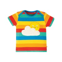 Tricou bebe Bobster Rainbow Multi Stripe