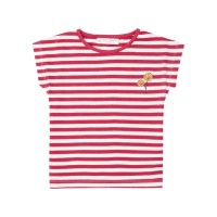 Tricou bumbac organic Dora Pink Stripes