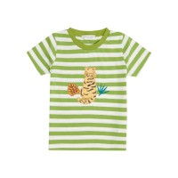 Tricou bumbac organic Green Stripes Tiger