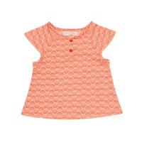 Tricou cu mânecă scurtă Lulu, roz somon