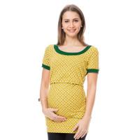 Tricou pentru gravide şi alăptare Sunna galben