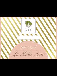 Card cadou cu valoare personalizată