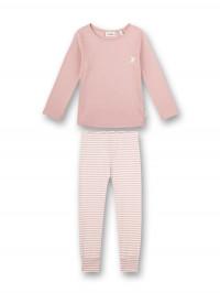 Pijama fete, bumbac organic roz