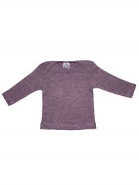 Bluză amestec bumbac, lână şi mătase, mov