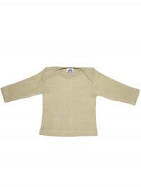 Bluză amestec bumbac, lână şi mătase, verde