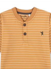Bluză băieţi Sanetta Pure, galbenă cu dungi