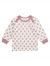 Bluză din bumbac organic Timber roz