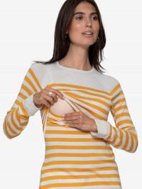 Bluză sarcină şi alăptare Elvira, dungi galbene