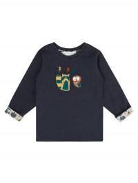 Bluză reversibilă băieţi Felix Navy Boys Forest