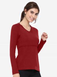 Bluză sarcină şi alăptare Lulu Red, amestec lână