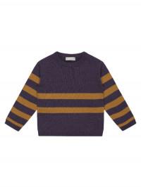 Bluză tricotată fete Tamia Caramel Stripes