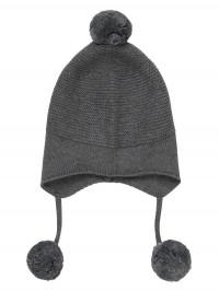 Căciulă tricotată bebe Marcel Dark Grey
