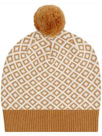 Căciulă tricotată Rudolfo Caramel Ivory