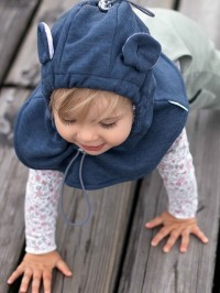 Cagulă din fleece pentru bebe Jeans Melange