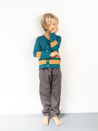 Cardigan tricotat băieţi Morel Petrol Blue