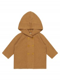 Cardigan tricotat bebeluşi Paul Caramel