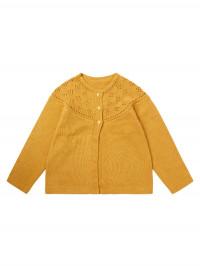 Cardigan tricotat bebe Hurit Mustard