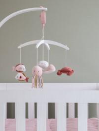 Carusel muzical lemn alb Ocean Pink