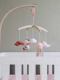 Carusel muzical lemn Ocean Pink