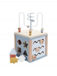 Cub din lemn cu activităţi Ocean Blue