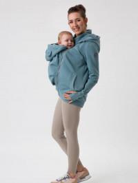 Hanorac 4în1 pentru sarcină şi Babywearing Pola Dusty Mint