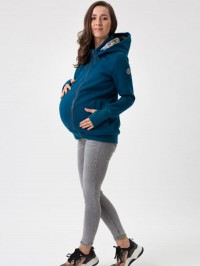 Hanorac 4în1 pentru sarcină şi Babywearing Pola Petrol