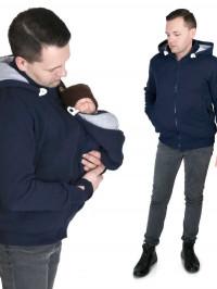 Hanorac Babywearing Tomy Navy, pentru tătici