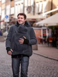 Hanorac fleece pentru babywearing tătici Luna Men