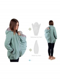 Jachetă softshell 4în1, sarcină şi babywearing Enigma Mint