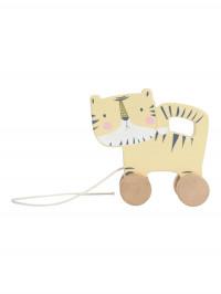Jucărie din lemn cu roţi Tigru
