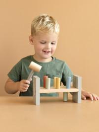Jucărie lemn cu cilindri şi ciocan Goose