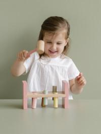Jucărie lemn cu cilindri şi ciocan Wild Flowers