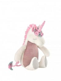 Jucărie muzicală Unicorn, bumbac organic