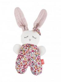 Jucărie zornăitoare din bumbac organic Rabbit Girl