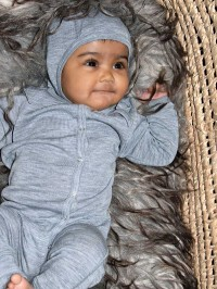 Jumpsuit lână bebe Grey