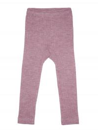 Leggings bumbac organic, lână şi mătase, roz